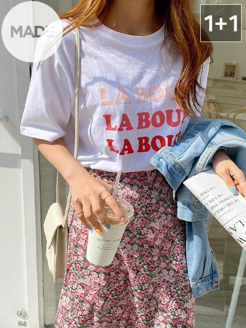 Pink Laboom Lettering T-Shirt 1 + 1