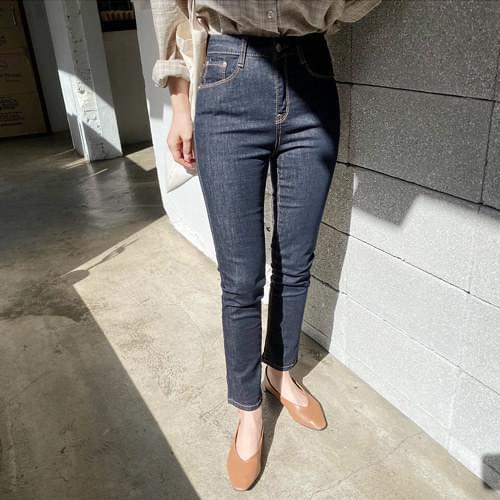 Anti-stain dough slim straight pants