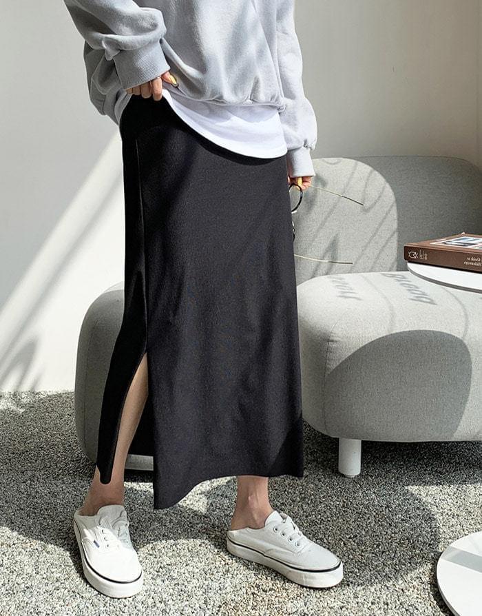 Ever slit tension long skirt