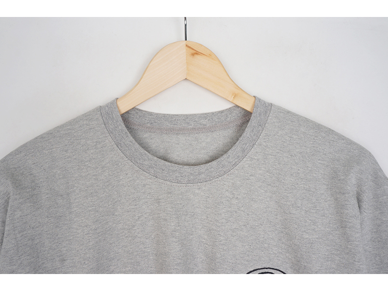 Embroidered brown long-sleeved tee