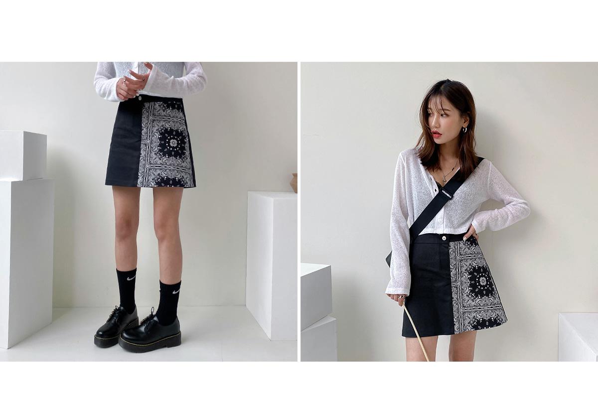 Bandana Leeds mini skirt