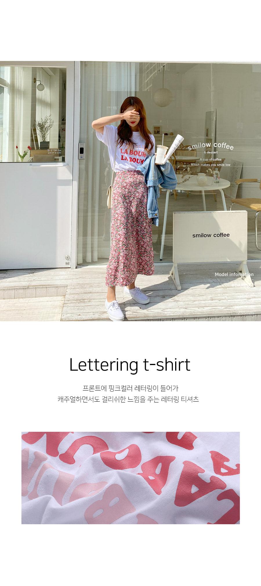 Pink Laboom Lettering T-shirt