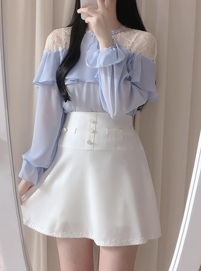 Prince lace shoulder blouse