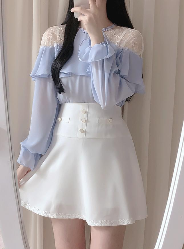 Prince lace shoulder blouse ブラウス
