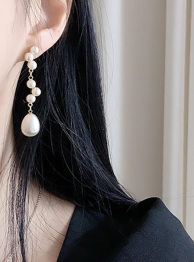 Bebe pearl earrings