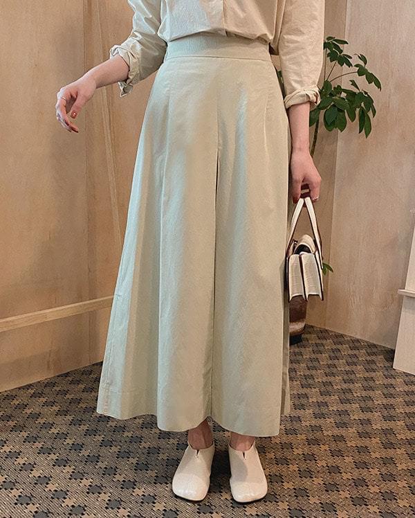 Heim banding long skirt