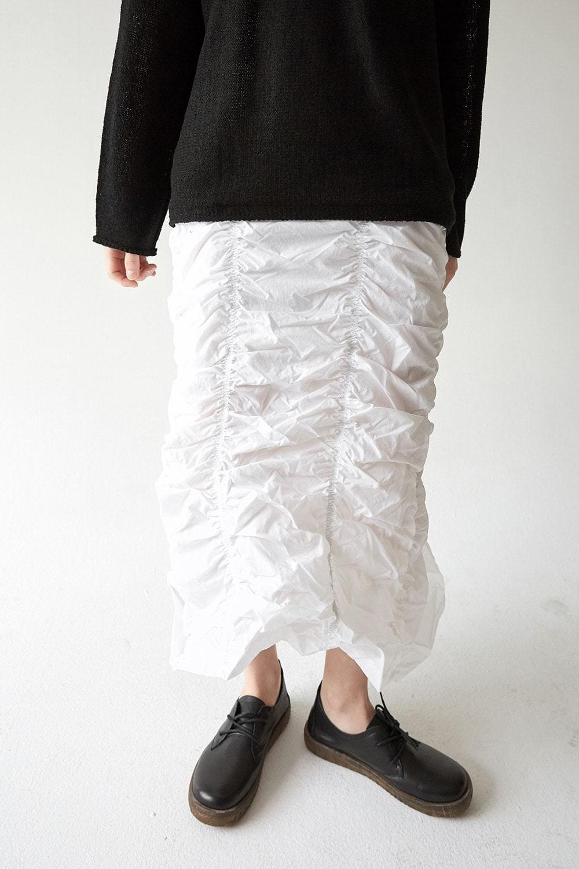 ruffled detail skirt (ivory)