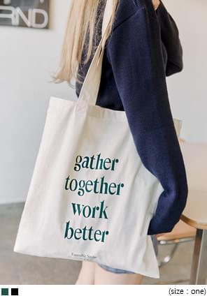 GATHER LETTERING ECO BAG 帆布包
