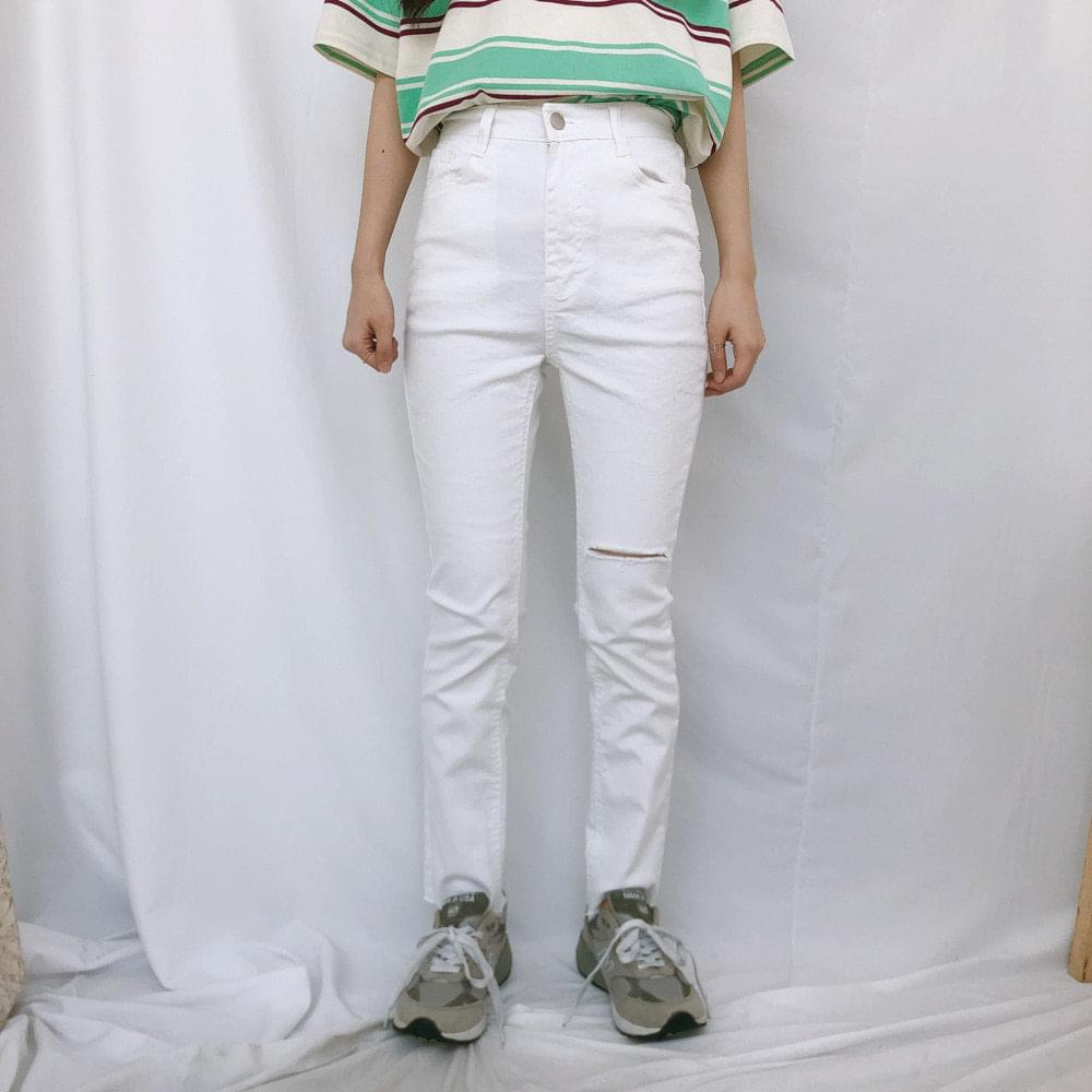 536 cutting cotton skinny pants