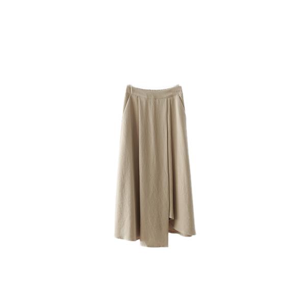 asymmetry cotton banding skirt