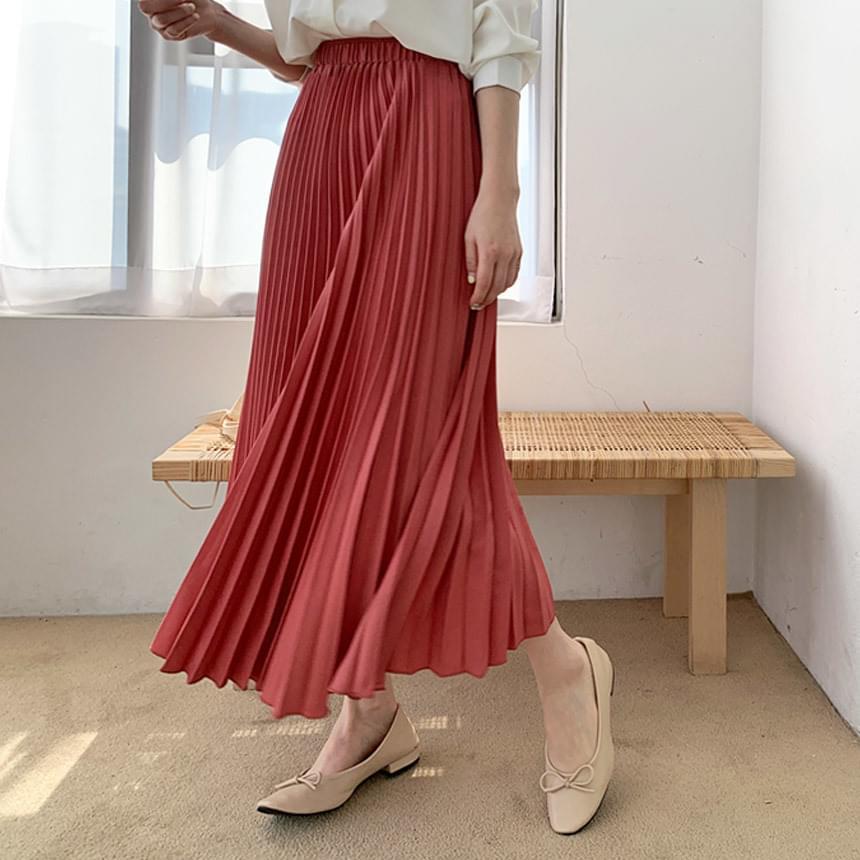 Rachel Pleats Long Skirt