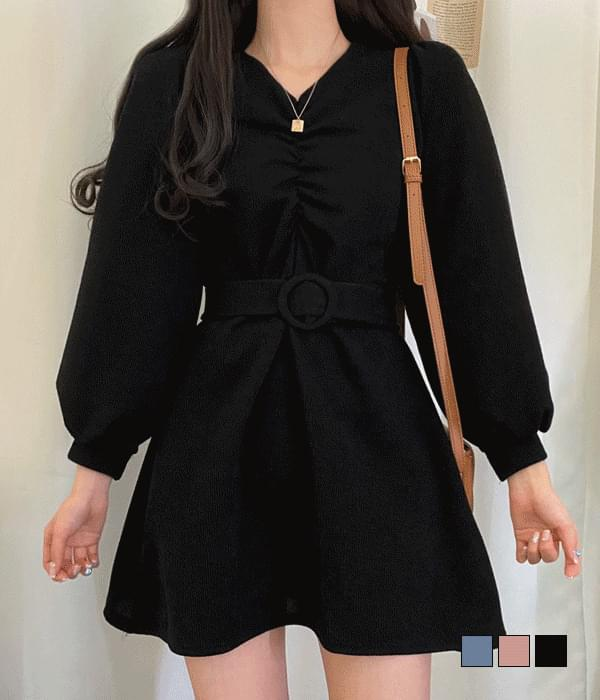 Shoe Cream Belt Dress