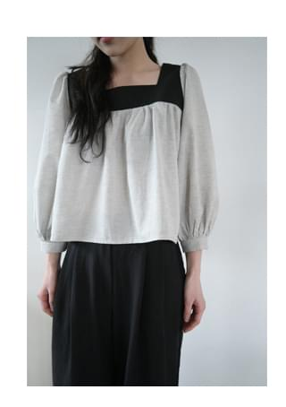bold square neckline blouse