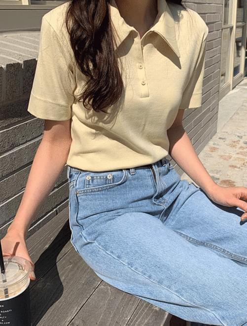 Tilda collar T-shirt Short Sleeve