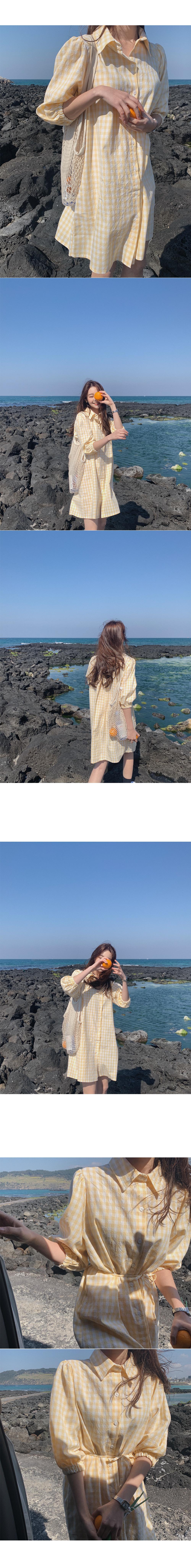 Sponge check dress