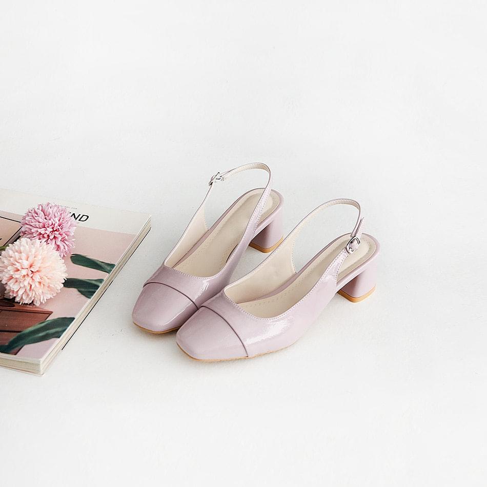 Recant slingback middle heel pumps 4 cm