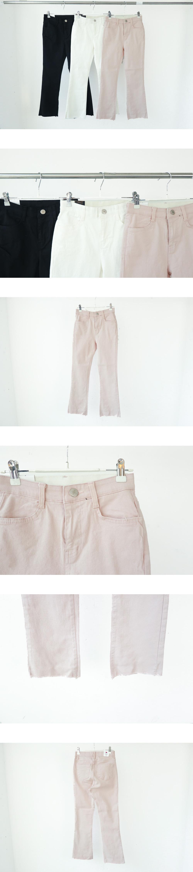 1004 semi-boots cut cotton pants