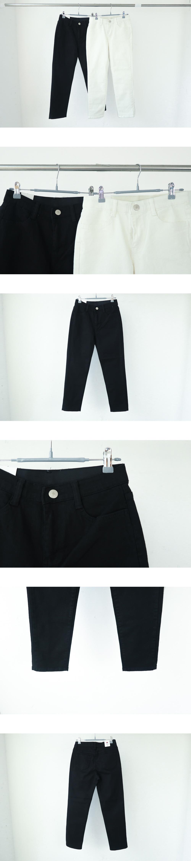 1001 High Slim Date Cotton Pants