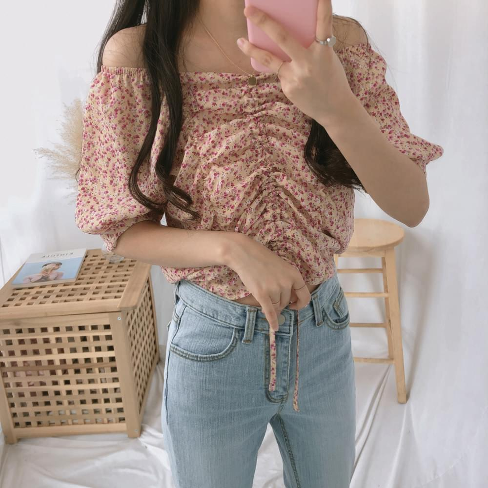 Ari Center Shirring Blouse