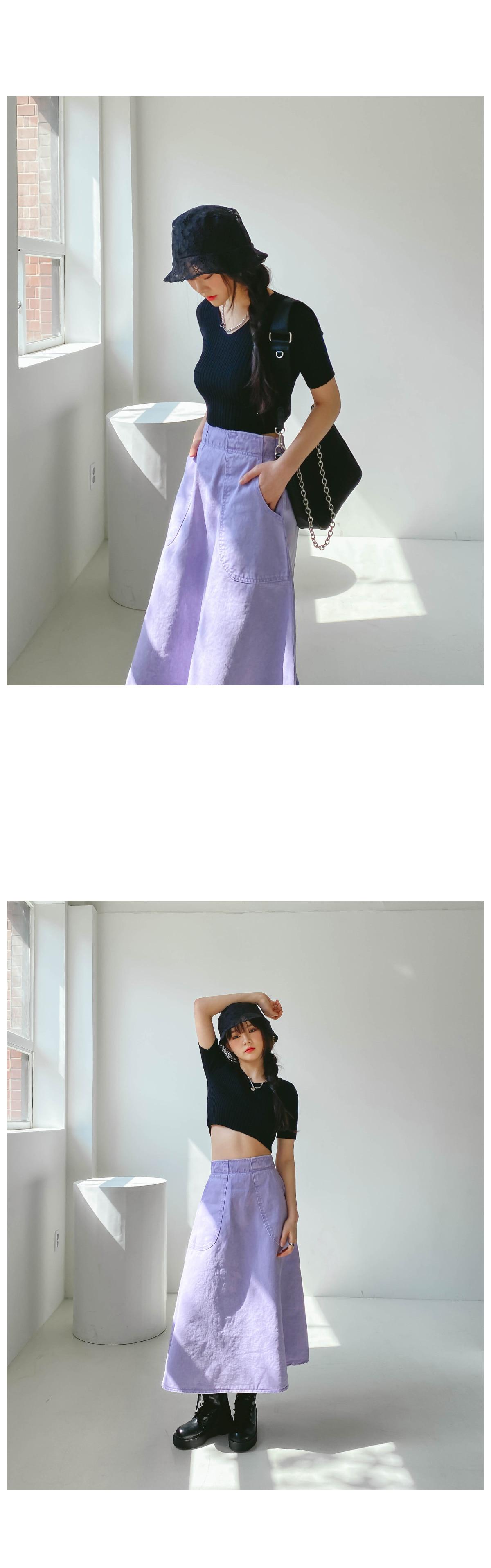 Pigment Melo Long Skirt