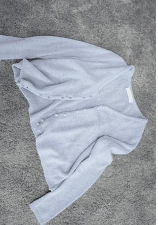 boucle slim fit cardigan
