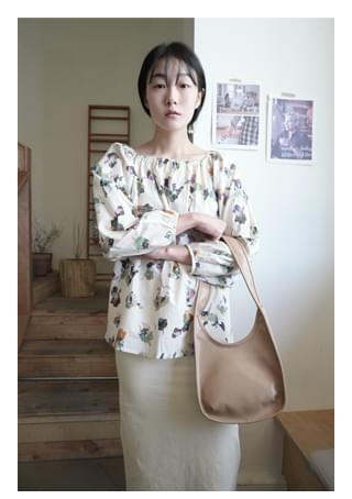 watercolor banding blouse (2colors)