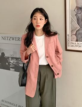 Daily linen single jacket 夾克外套