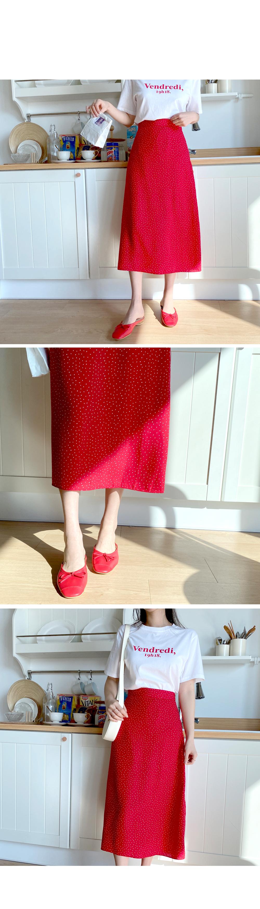 Water drop long skirt