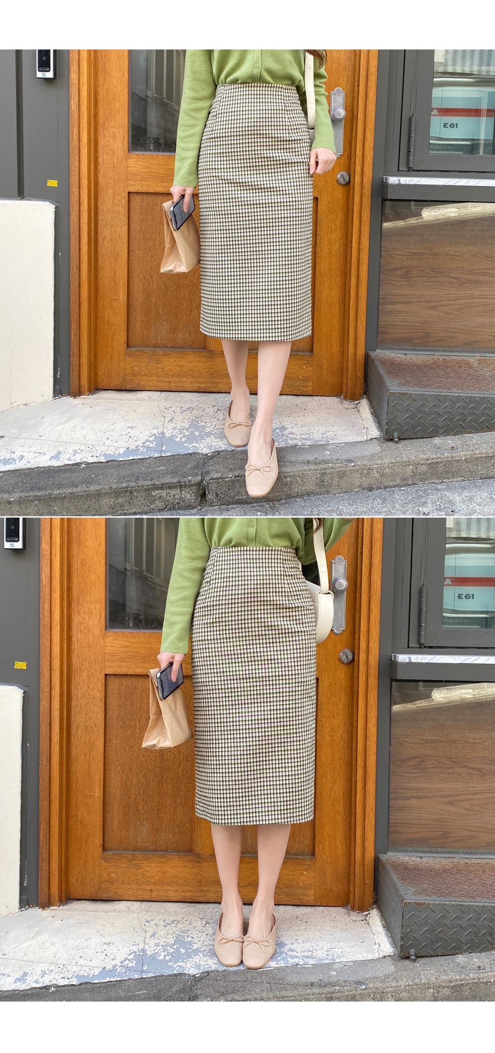 Emotional check skirt