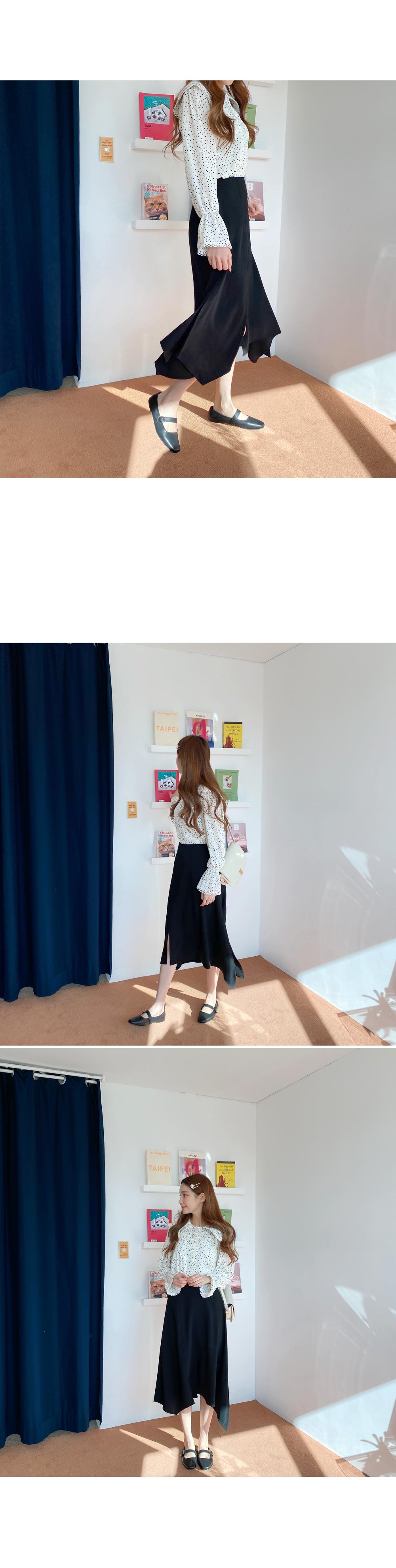 One step two steps tom long skirt