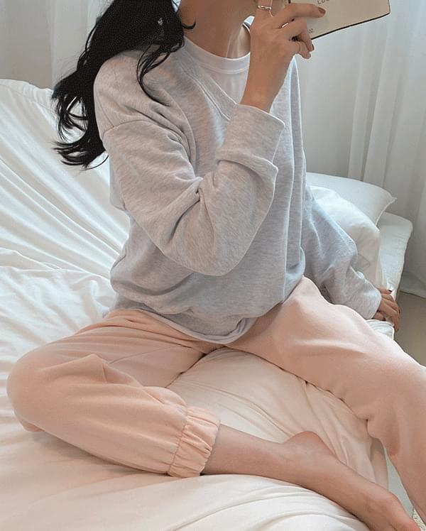 Cheese V Neck Color sweat shirt