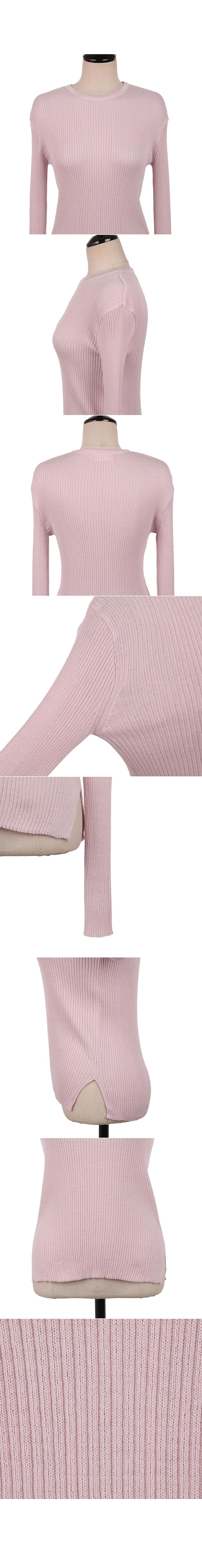 Ribbed spring knit pink