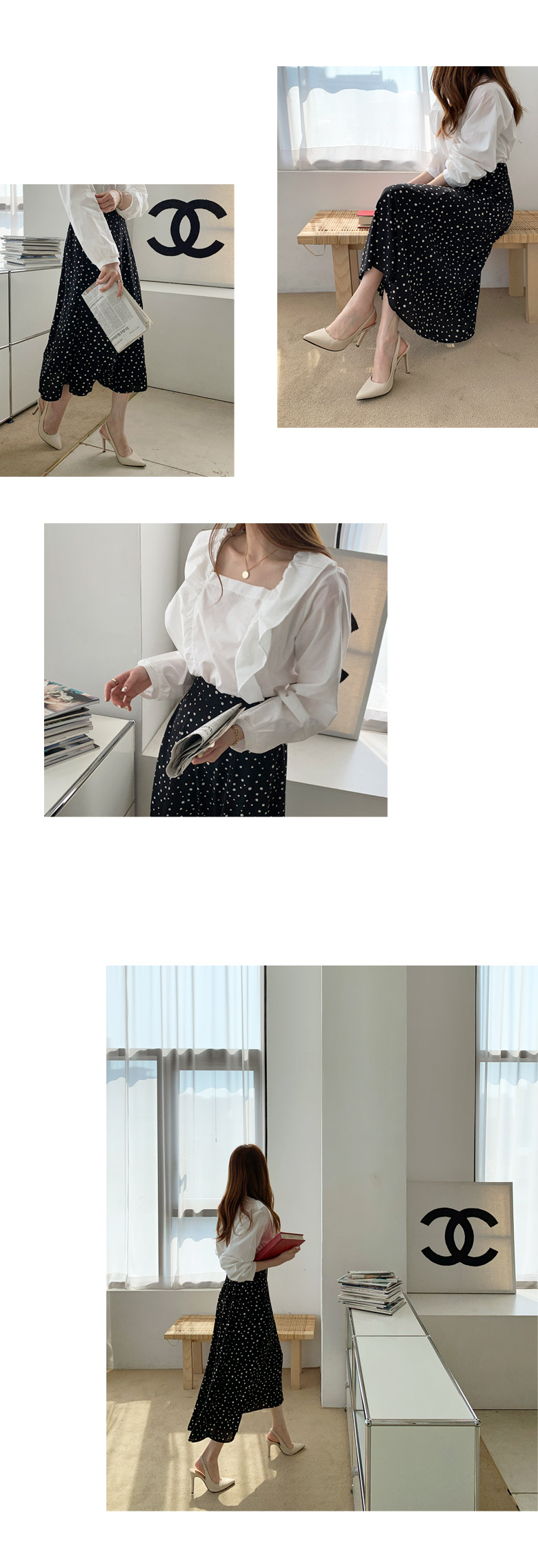 Touch Square Ruffle Blouse