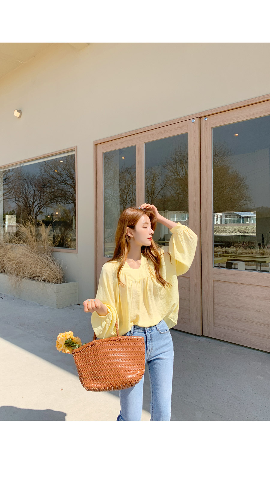 Aid pleated blouse