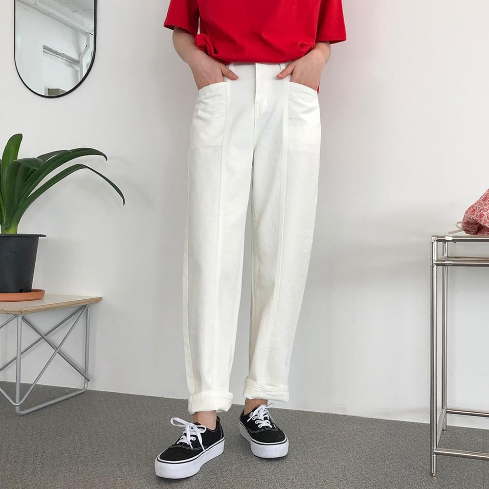 Line exhaust fit cotton pants パンツ