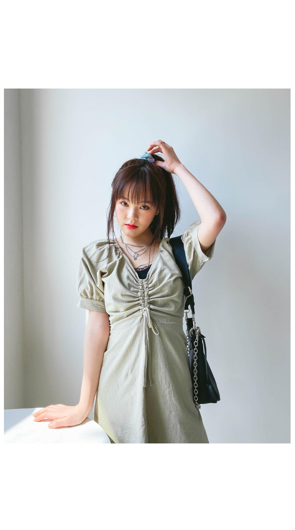 Shirring Mute Mini Dress