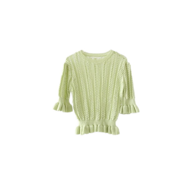 mild punching frill knit