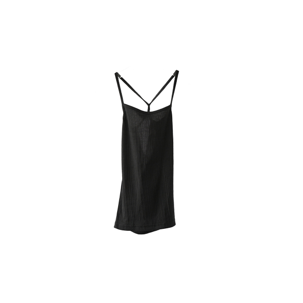 back cross ribbed sleeveless