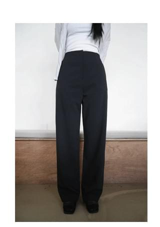 clean straight long slacks (3colors)