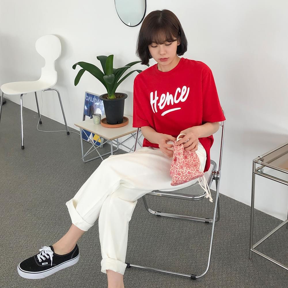 Hen's Lettering Short-sleeved T-shirt 半袖