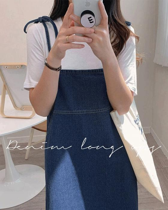 Thanks sale ♥ string suspenders denim ops