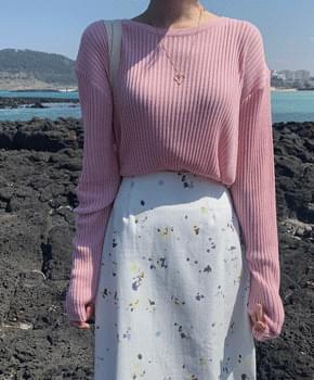 Viola ribbed knit