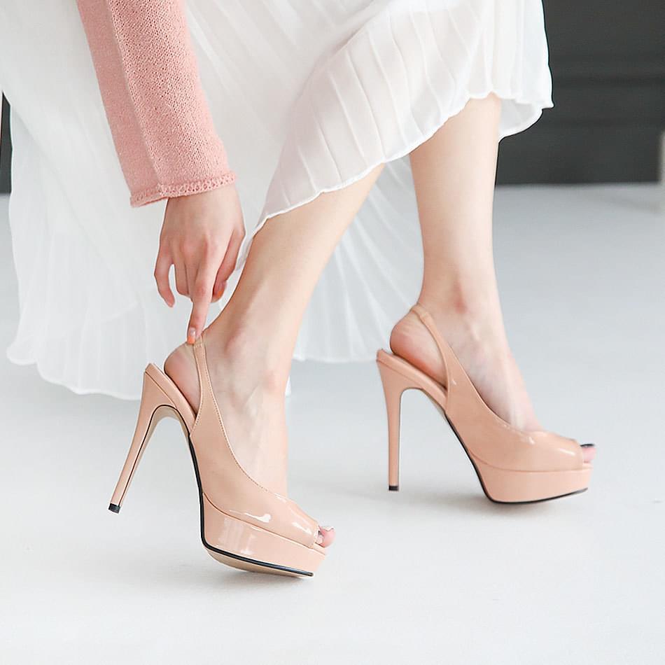 Elgit Gaboshi Toe Open Sling Bag Kill Heel 12cm
