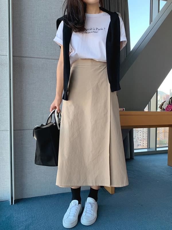 Margaret Stitch Wrap Skirt