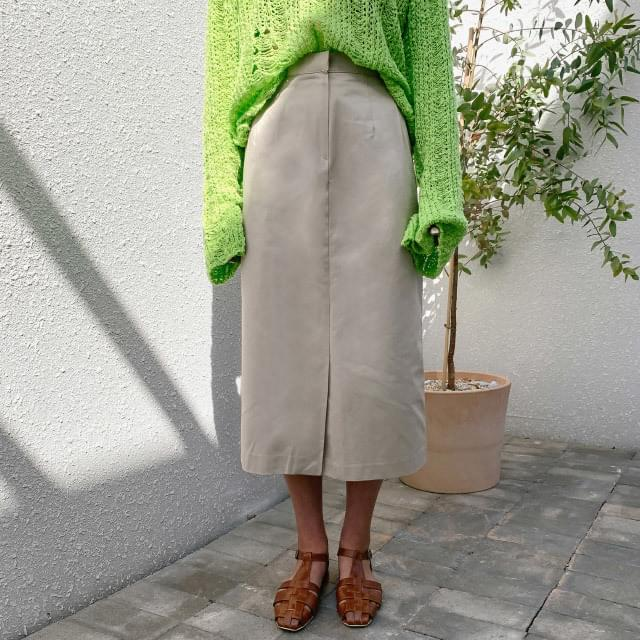 H-line front cotton skirt