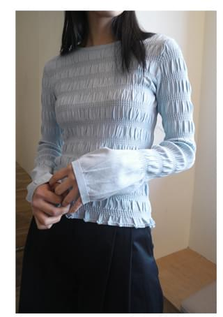 smocking tension top (3colors)