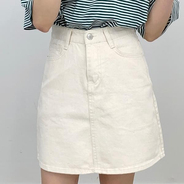 Commando cutting cotton skirt