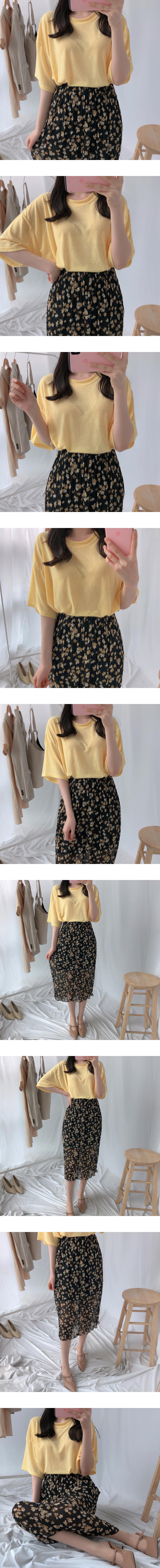 Loose Wrinkle Long Skirt