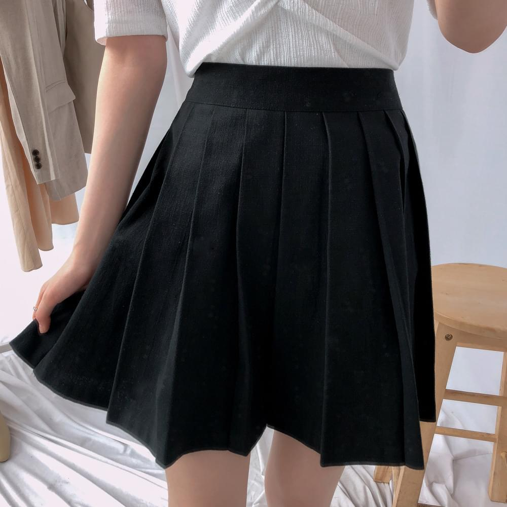 Miu wide pleated skirt