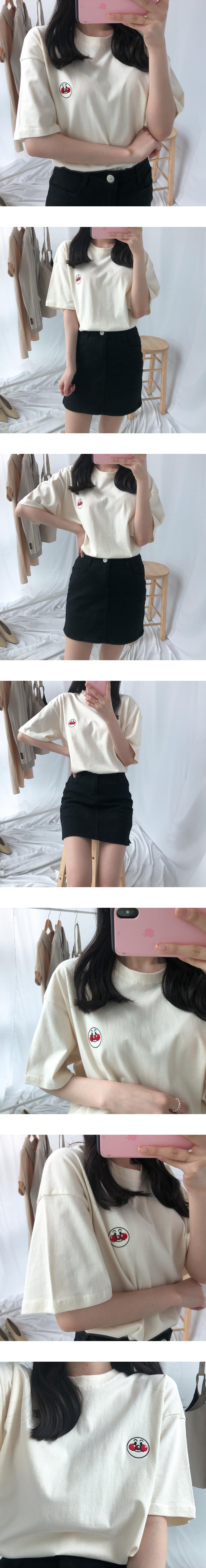 119 pastel mini cotton skirt